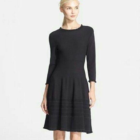 aca01b8fcc8 Kate Spade Pointelle Sweater Dress Longsleeve Knit